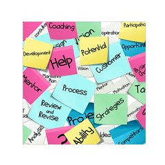 Stickies Post It List Business Small Satin Scarf (square)