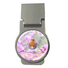 Spring Bird Bird Spring Robin Money Clips (round)