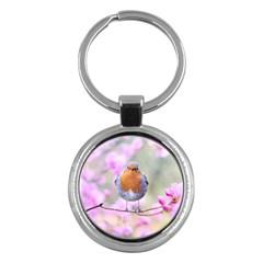 Spring Bird Bird Spring Robin Key Chains (round)