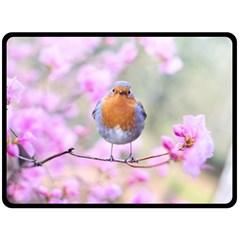 Spring Bird Bird Spring Robin Fleece Blanket (large)