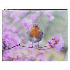 Spring Bird Bird Spring Robin Cosmetic Bag (xxxl)