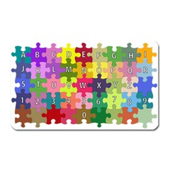 Puzzle Part Letters Abc Education Magnet (rectangular)