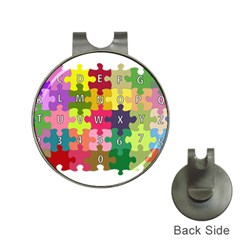 Puzzle Part Letters Abc Education Hat Clips With Golf Markers