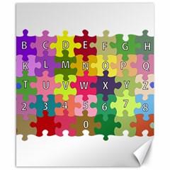 Puzzle Part Letters Abc Education Canvas 8  X 10