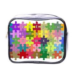 Puzzle Part Letters Abc Education Mini Toiletries Bags