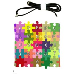 Puzzle Part Letters Abc Education Shoulder Sling Bags