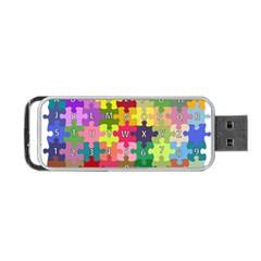 Puzzle Part Letters Abc Education Portable Usb Flash (two Sides)