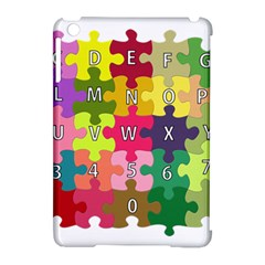Puzzle Part Letters Abc Education Apple Ipad Mini Hardshell Case (compatible With Smart Cover)