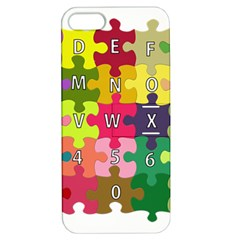 Puzzle Part Letters Abc Education Apple Iphone 5 Hardshell Case With Stand