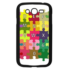 Puzzle Part Letters Abc Education Samsung Galaxy Grand Duos I9082 Case (black)