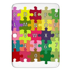 Puzzle Part Letters Abc Education Samsung Galaxy Tab 3 (10 1 ) P5200 Hardshell Case