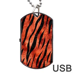 Skin3 Black Marble & Copper Paint Dog Tag Usb Flash (two Sides)
