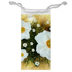 Summer Anemone Sylvestris Jewelry Bag