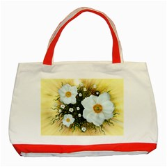 Summer Anemone Sylvestris Classic Tote Bag (red)
