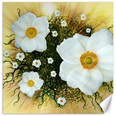 Summer Anemone Sylvestris Canvas 20  X 20