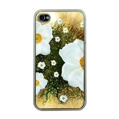 Summer Anemone Sylvestris Apple Iphone 4 Case (clear)