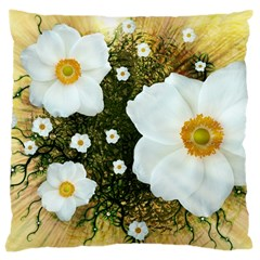 Summer Anemone Sylvestris Large Cushion Case (one Side)