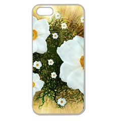 Summer Anemone Sylvestris Apple Seamless Iphone 5 Case (clear)