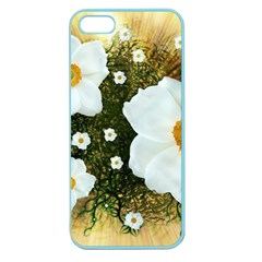 Summer Anemone Sylvestris Apple Seamless Iphone 5 Case (color)