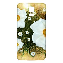 Summer Anemone Sylvestris Samsung Galaxy S5 Back Case (white)