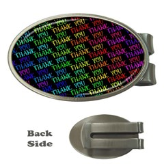 Thank You Font Colorful Word Color Money Clips (oval)