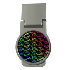 Thank You Font Colorful Word Color Money Clips (round)