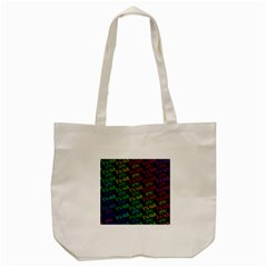 Thank You Font Colorful Word Color Tote Bag (cream)