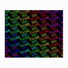 Thank You Font Colorful Word Color Small Glasses Cloth