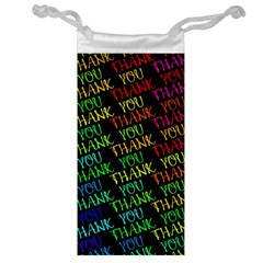 Thank You Font Colorful Word Color Jewelry Bag