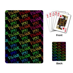 Thank You Font Colorful Word Color Playing Card