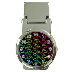 Thank You Font Colorful Word Color Money Clip Watches