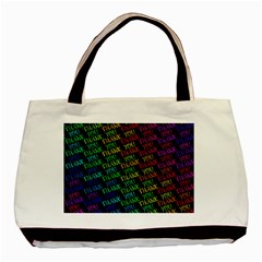 Thank You Font Colorful Word Color Basic Tote Bag