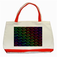Thank You Font Colorful Word Color Classic Tote Bag (red)