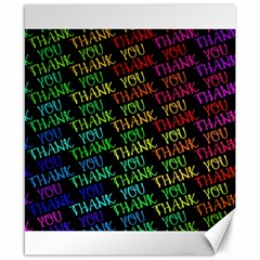 Thank You Font Colorful Word Color Canvas 8  X 10