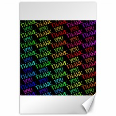 Thank You Font Colorful Word Color Canvas 12  X 18