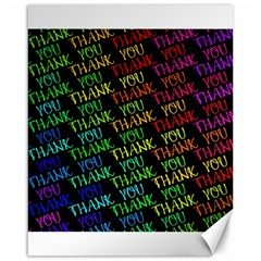 Thank You Font Colorful Word Color Canvas 16  X 20