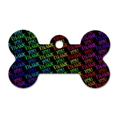 Thank You Font Colorful Word Color Dog Tag Bone (two Sides)
