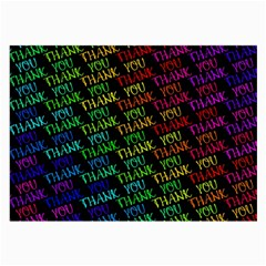 Thank You Font Colorful Word Color Large Glasses Cloth