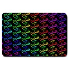 Thank You Font Colorful Word Color Large Doormat
