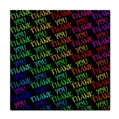 Thank You Font Colorful Word Color Face Towel