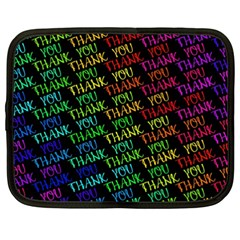 Thank You Font Colorful Word Color Netbook Case (xxl)