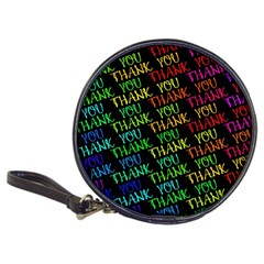Thank You Font Colorful Word Color Classic 20 Cd Wallets