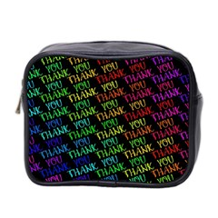 Thank You Font Colorful Word Color Mini Toiletries Bag 2 Side