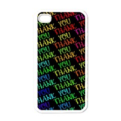 Thank You Font Colorful Word Color Apple Iphone 4 Case (white)