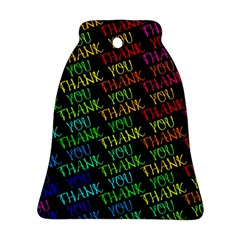 Thank You Font Colorful Word Color Bell Ornament (two Sides)