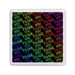 Thank You Font Colorful Word Color Memory Card Reader (square)