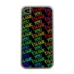 Thank You Font Colorful Word Color Apple Iphone 4 Case (clear)