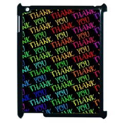 Thank You Font Colorful Word Color Apple Ipad 2 Case (black)