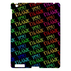 Thank You Font Colorful Word Color Apple Ipad 3/4 Hardshell Case