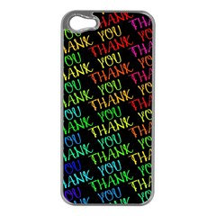 Thank You Font Colorful Word Color Apple Iphone 5 Case (silver)